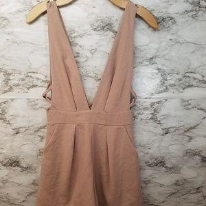 Solemio Open Front Sexy Clubwear Romper Womens S